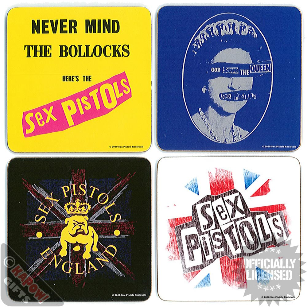 Sex Pistols Coaster Set 4 Pack Coffee Tea Cup Mug Kitchen