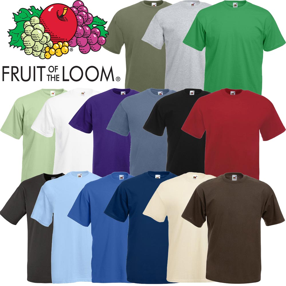Fruit of the loom liso camiseta calidad marca para - Tabla doblar camisetas ...