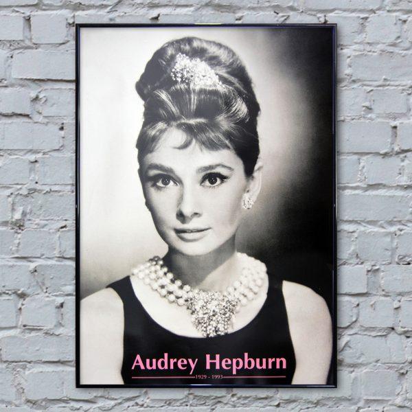audrey hepburn necklace poster 610 x 860mm. Black Bedroom Furniture Sets. Home Design Ideas