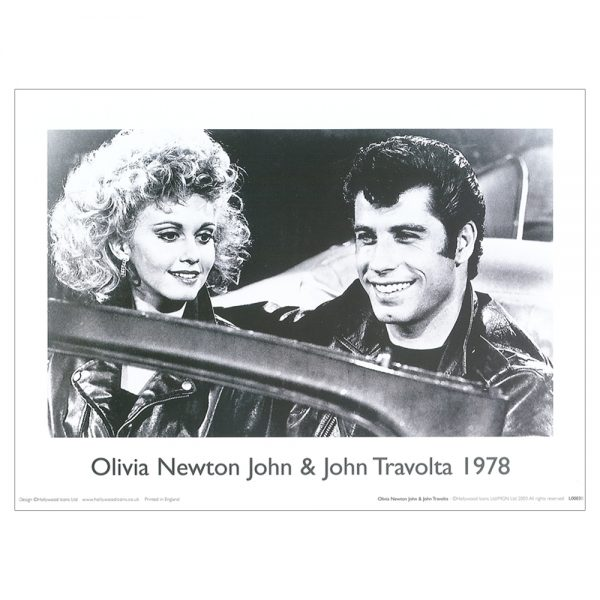 Grease - Olivia Newton John Travolta Print