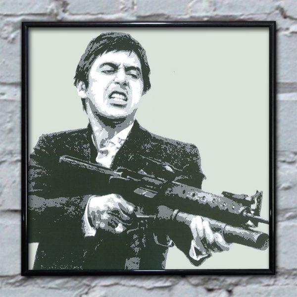 Scarface Shooting Cream - Pop Art Print -